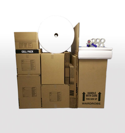 Deluxe 1 bedroom apartment moving kit