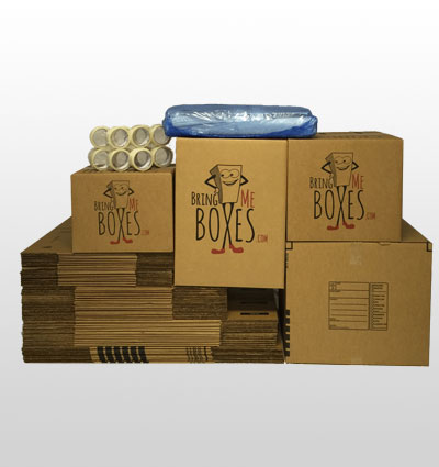 Basic 3 bedroom home moving supply kit