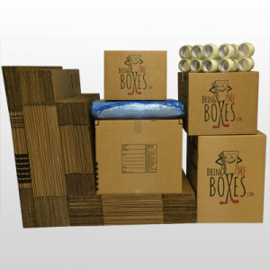 Basic 4 bedroom home moving supply kit